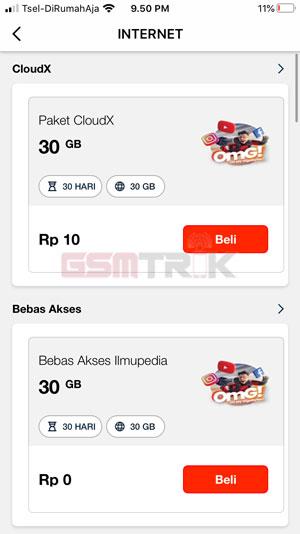Pilihan Paket Telkomsel