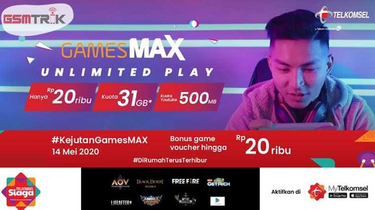 Cara Beli Paket GamesMAX Unlimited Play