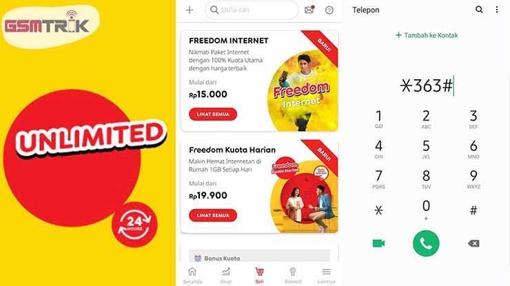 Cara Daftar Paket Unlimited Indosat