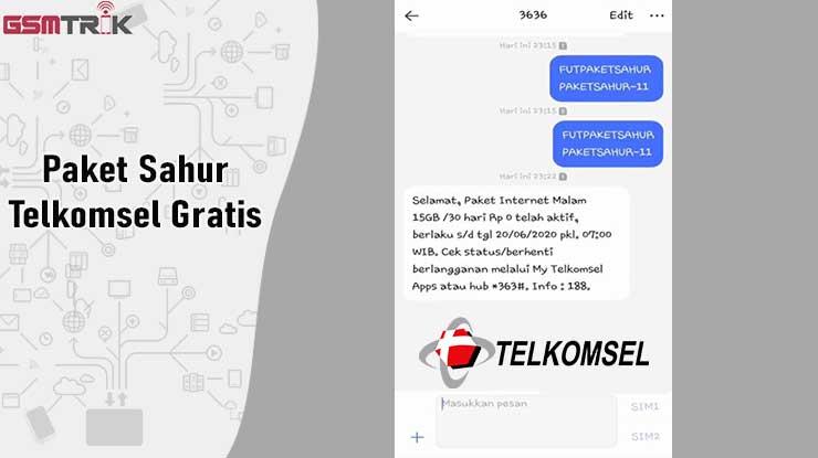 Cara Dapat Paket Sahur Telkomsel Gratis