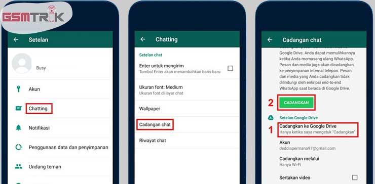 Cara Memindahkan WhatsApp Lewat Backup Online