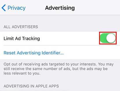 Cara Menghilangkan Iklan Dengan Limit Ad Tracking