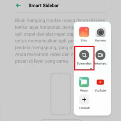 Cara Screenshot Lewat Smart Sidebar