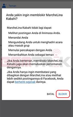 Konfirmasi Pemblokiran Facebook