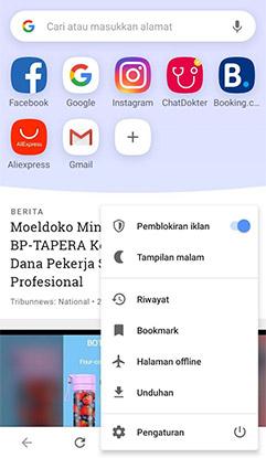 Menghilangkan Iklan Dengan Browser Opera