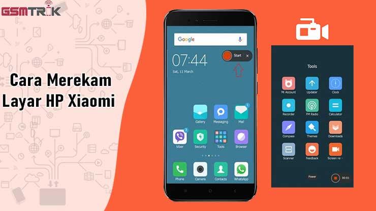 Cara Merekam Layar HP Xiaomi