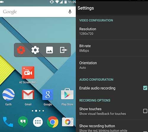 Cara Rekam Layar Xiaomi Dengan AZ Screen Recorder