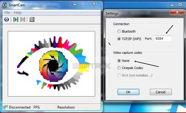 Menghubungkan Kamera HP via Smartcam Webcam