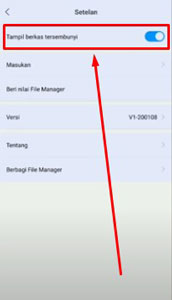 4 Selanjutnya aktifkan Tampil Berkas Tersembunyi jika sudah aktif