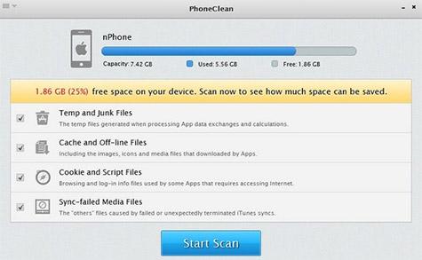 Membersihkan iPhone Lewat PhoneClean