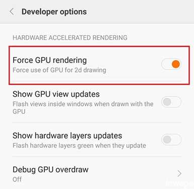 Cara Mengaktifkan GPU 2D Rendering Android