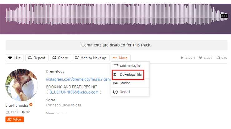 Download Lagu Langsung di Situs SoundCloud