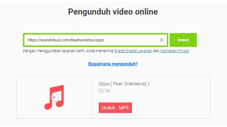 Download Lagu SoundCloud Gratis Lewat SaveFrom