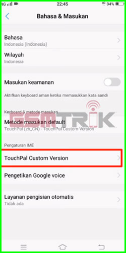 3 Pilih Touchpal Custom Version