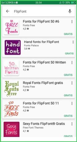4 Pilih Font dari FlipFont