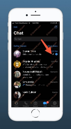 4 Chat WA Sudah di Pin
