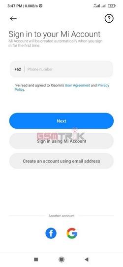 9 Silahkan Masukan Nomor Telp Atau Email Akun Mi Kalian