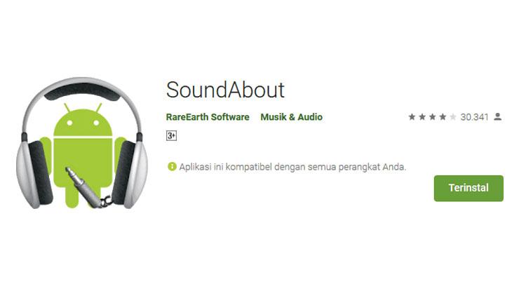 Gunakan Aplikasi SoundAbout