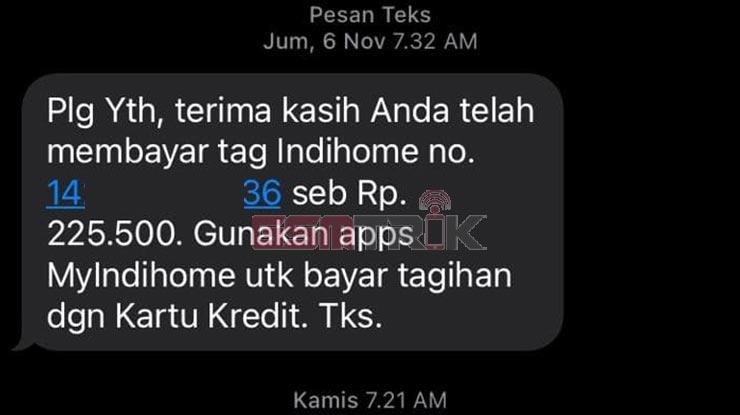 Lewat SMS Telkom