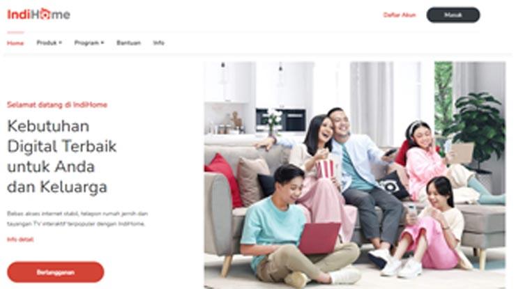 Lewat Website Indihome