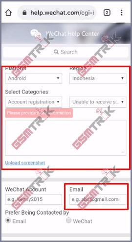 Masukan Detail Info WeChat Lengkap