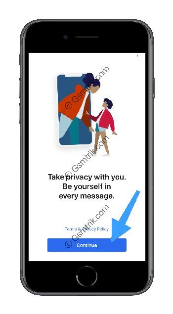 1 Buka Aplikasi Signal