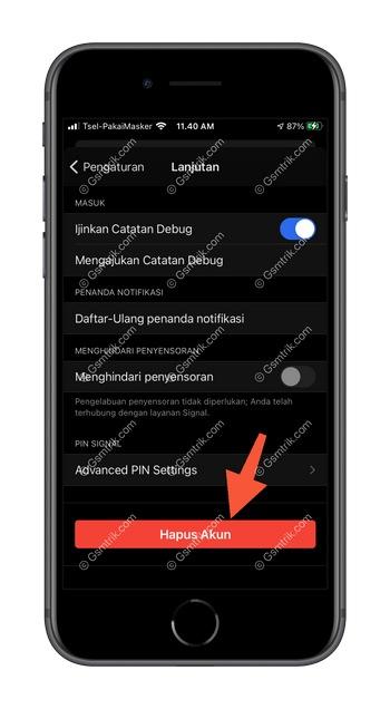 3 Pilih Hapus Akun iOS