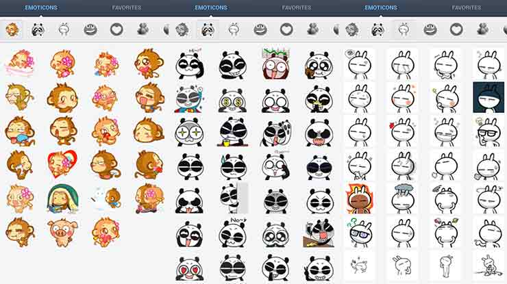 Cute Emoticons Sticker