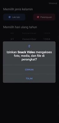 izinkan snack video