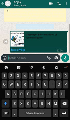 memindahkan grup WhatsApp ke BiP