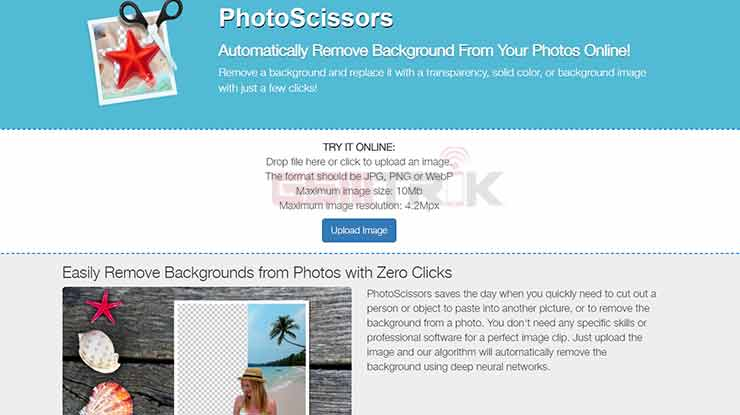 Cara Mengganti Background Otomatis di Photoscissors