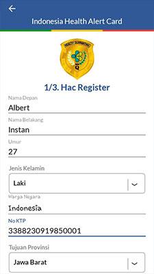 Cara Mengisi e HAC Indonesia