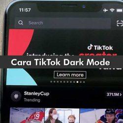 Cara TikTok Dark Mode