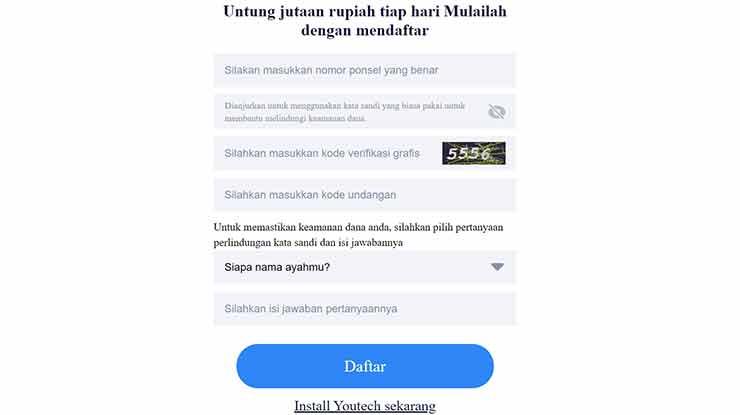 Download Youtech APK Penghasil Uang