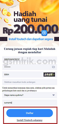 install youtech sekarang