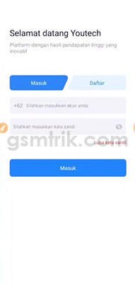 login aplikasi youtech