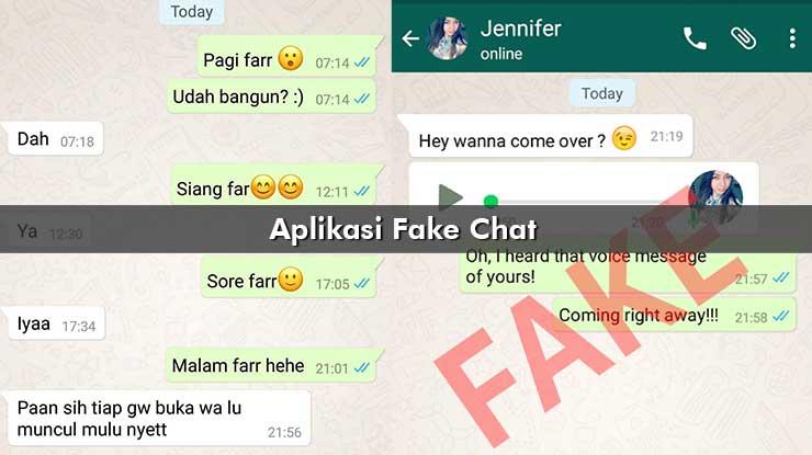 Aplikasi Fake Chat