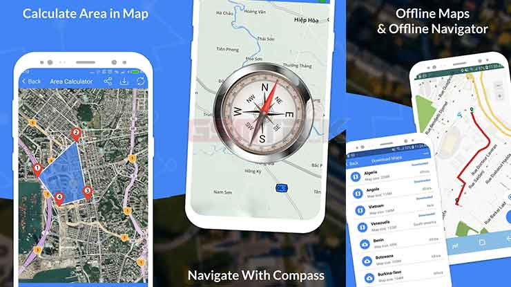 GPS Maps Navigate Traffic Area Calculating
