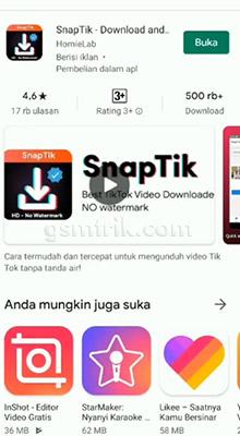 Menggunakan Aplikasi SnapTik