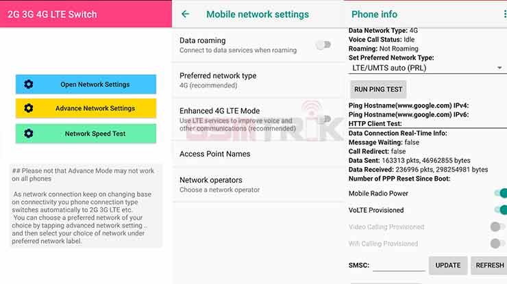 2G 3G 4G LTE Switcher