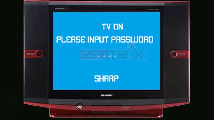 Cara Buka Password TV Sharp Tabung