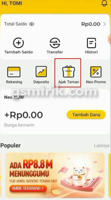 Cara Mendapatkan Uang di Aplikasi Neo Plus