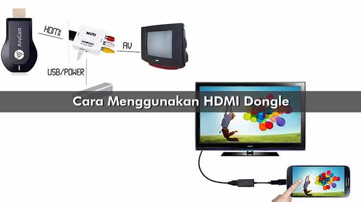 Cara Menggunakan HDMI Dongle