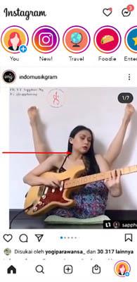 cara menambah musik ke gambar instagram