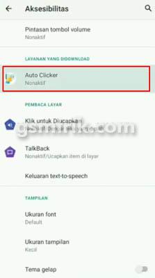 settingan auto clicker