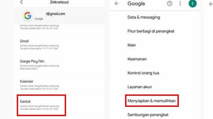Cara Memindahkan Kontak HP Oppo ke Gmail