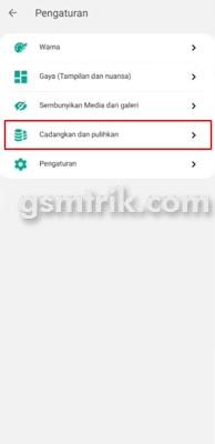 Cara Mencadangkan WA GB ke Google