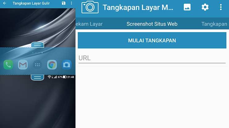 Cara Screenshot via Aplikasi Pihak Ketiga