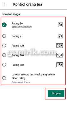 rating play store
