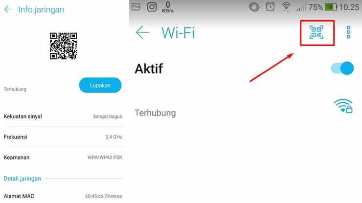 Cara Berbagi Sandi Wifi Vivo Pakai Pemindai